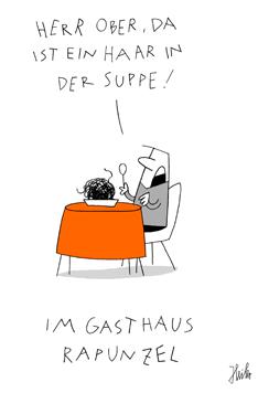 """Miniaturbild: Pascal Heiler Cartoons """"Im Gasthaus Rapunzel"""""""